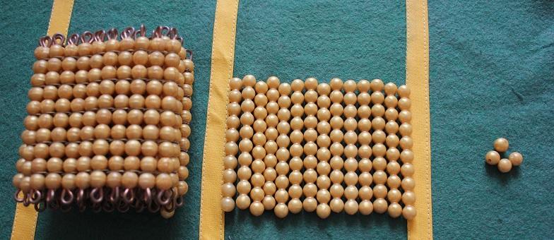 Montessori perles dorées
